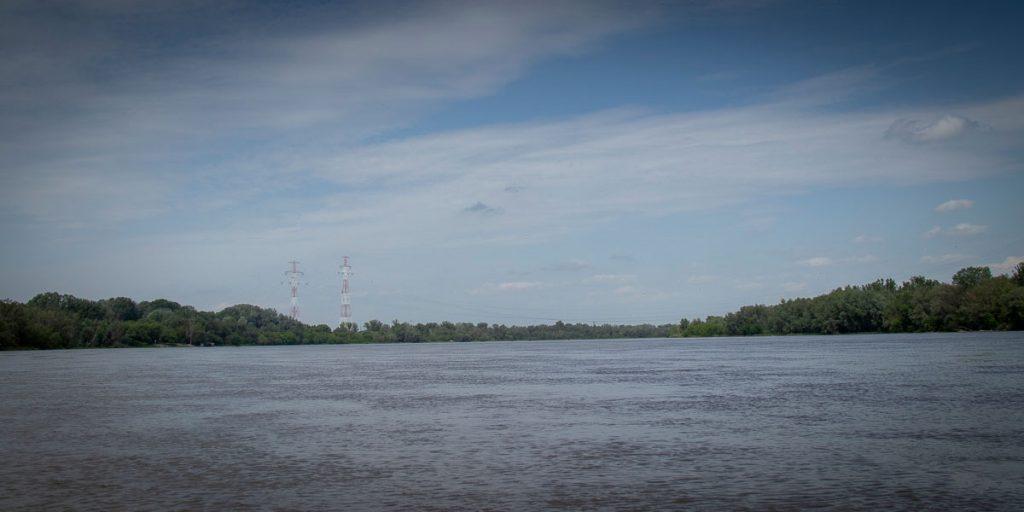 Widok na Wisłę w okolicach Łomianek