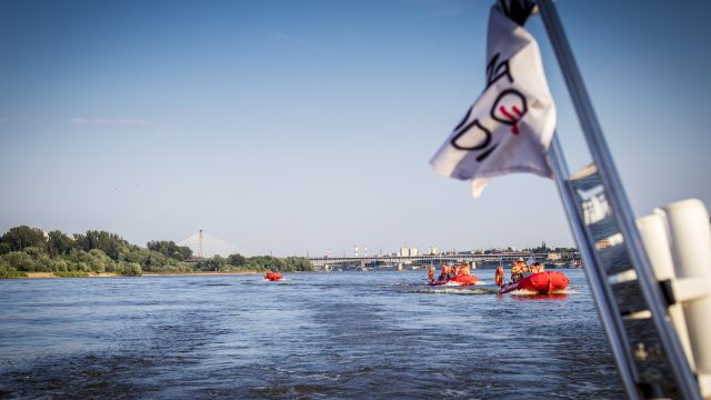 Sailing together on Vistula river