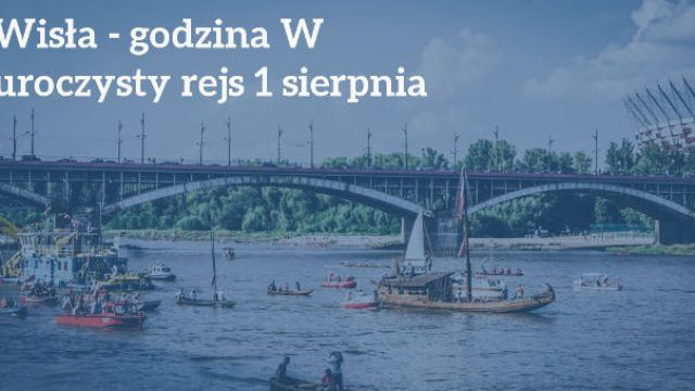 Solemn cruise and minute's silence in memory of Warsaw Rising '44